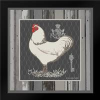 White Rooster: Framed Art Print by Babbit, Gwendolyn