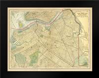 Brooklyn Map: Framed Art Print by Babbitt, Gwendolyn