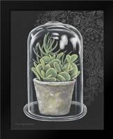 Succulent in Cloche I: Framed Art Print by Babbitt, Gwendolyn