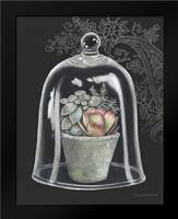 Succulent in Cloche IV: Framed Art Print by Babbitt, Gwendolyn