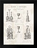 Wine Casters: Framed Art Print by Babbitt, Gwendolyn