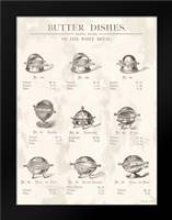 Butter Dishes: Framed Art Print by Babbitt, Gwendolyn