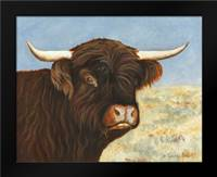 Highland Cow: Framed Art Print by Babbitt, Gwendolyn
