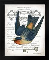 French Swallow I: Framed Art Print by Babbitt, Gwendolyn