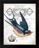 French Swallow II: Framed Art Print by Babbitt, Gwendolyn