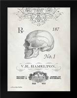 Elegant Skeleton Skull: Framed Art Print by Babbitt, Gwendolyn