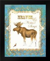 Moose in Snow: Framed Art Print by Babbitt, Gwendolyn