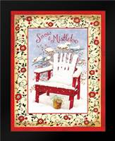 Snow and Mistletoe: Framed Art Print by Babbitt, Gwendolyn