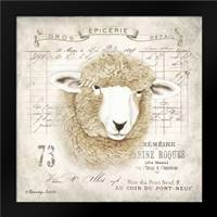 French Sheep: Framed Art Print by Babbitt, Gwendolyn