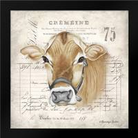 French Cow: Framed Art Print by Babbitt, Gwendolyn