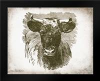 Cow Face I: Framed Art Print by Babbitt, Gwendolyn