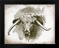 Cow Face II: Framed Art Print by Babbitt, Gwendolyn