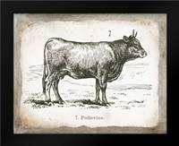 French Cow I: Framed Art Print by Babbitt, Gwendolyn