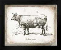 French Cow II: Framed Art Print by Babbitt, Gwendolyn
