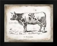 French Cow IV: Framed Art Print by Babbitt, Gwendolyn