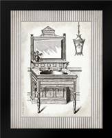 Victorian Sink Stripes I: Framed Art Print by Babbitt, Gwendolyn