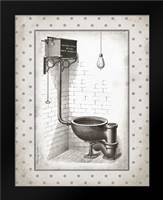 Water Closet I: Framed Art Print by Babbitt, Gwendolyn