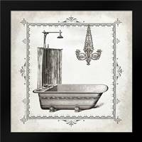 Tub and Chandelier I: Framed Art Print by Babbitt, Gwendolyn