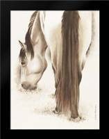 Lovely White Horse: Framed Art Print by Babbitt, Gwendolyn