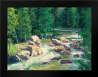 Cascading Stream: Framed Art Print by Bailey, Carol