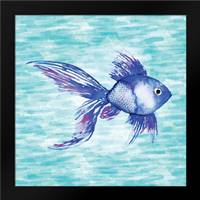 Deep Sea Blue Fish: Framed Art Print by Berrenson, Sara