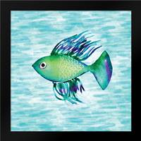 Deep Sea Green Fish: Framed Art Print by Berrenson, Sara