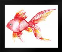 Deep Sea Coral Fish: Framed Art Print by Berrenson, Sara