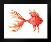 Deep Sea Red Fish: Framed Art Print by Berrenson, Sara