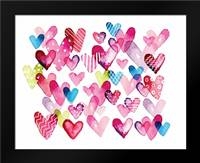 I Heart You Hearts: Framed Art Print by Berrenson, Sara