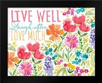 Live Well: Framed Art Print by Berrenson, Sara