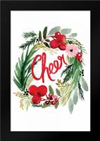 Cheer Wreath: Framed Art Print by Berrenson, Sara