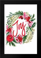 Joy Wreath: Framed Art Print by Berrenson, Sara
