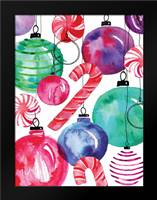 Candy Cane Ornaments: Framed Art Print by Berrenson, Sara