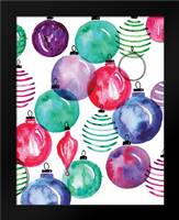 Watercolor Ornaments: Framed Art Print by Berrenson, Sara