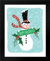 Holiday Snowman: Framed Art Print by Berrenson, Sara