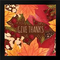 Give Thanks Sq: Framed Art Print by Berrenson, Sara