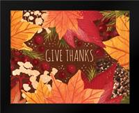 Give Thanks: Framed Art Print by Berrenson, Sara