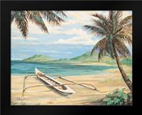 Outrigger Cove: Framed Art Print by Brent, Paul