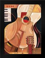 Abstract Guitar: Framed Art Print by Brent, Paul