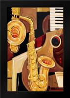 Abstract Sax: Framed Art Print by Brent, Paul