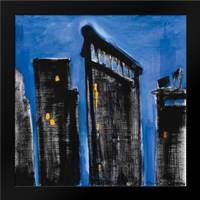 Blue Cityscape: Framed Art Print by Brent, Paul