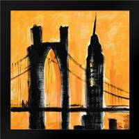 Amber Cityscape: Framed Art Print by Brent, Paul