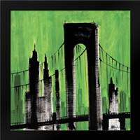 Green Cityscape: Framed Art Print by Brent, Paul