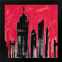 Red Cityscape: Framed Art Print by Brent, Paul