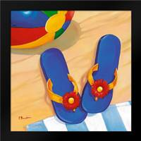 Blue Flip Flops: Framed Art Print by Brent, Paul