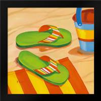 Green Flip Flops: Framed Art Print by Brent, Paul