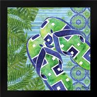 Blue Sarasota Sandals III: Framed Art Print by Brent, Paul