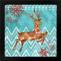 Ice Reindeer Dance I: Framed Art Print by Brent, Paul