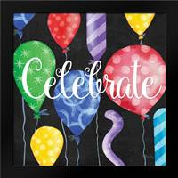 Celebration Balloons I: Framed Art Print by Brent, Paul