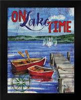 Lake Time Vertical I: Framed Art Print by Brent, Paul